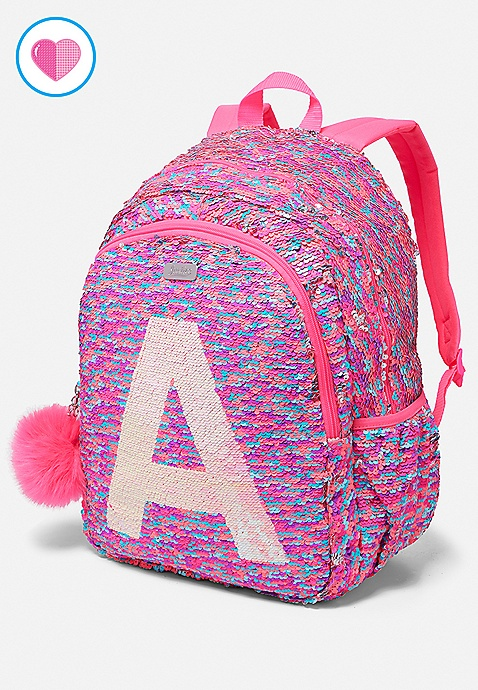 273d428bf44e Flip Sequin Initial Backpack | Justice