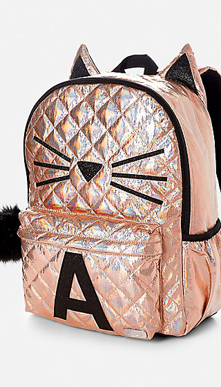 Quilted Cat Initial Backpack Justice