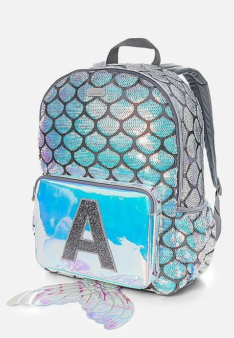 Justice Girls Mermaid School Backpack//Lunch Tote Initial Letter Letter H