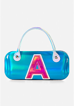 Holo Initial Sunglasses Case