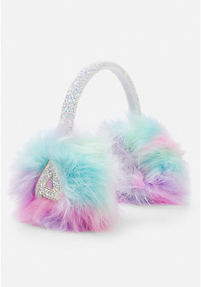 Pastel Sparkle Initial Earmuffs