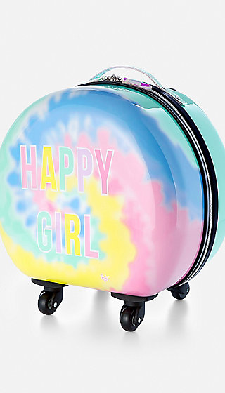Happy Girl Hard Shell Suitcase