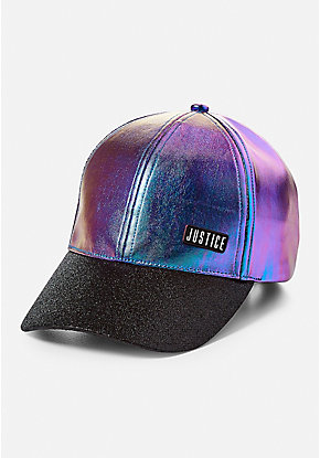 Oil Slick Glitter Baseball Cap