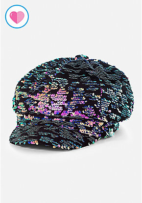 Sequin & Velvet Newsboy Cap