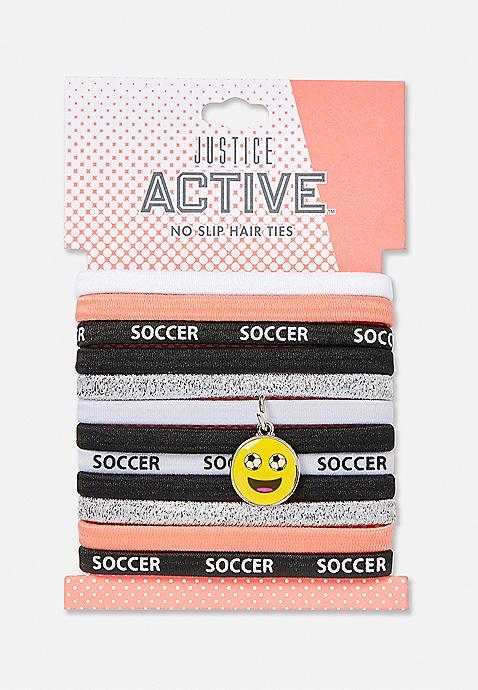 12 Pack Soccer Charm Hair Ties  898f583c1e9