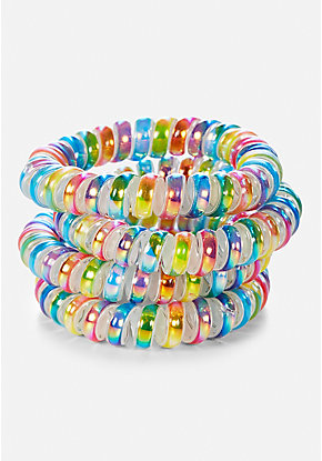 Spiral Hair Ties - 4 Pack