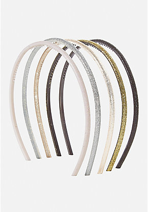 Metallic Sparkle Headband - 5 Pack