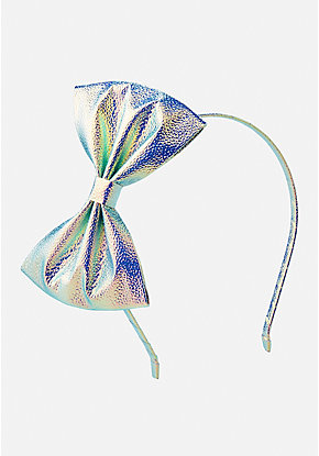 Iridescent Bow Headband
