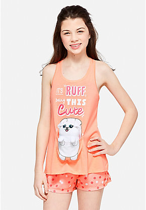 Ruff Being This Cute Pouch Pajama Set