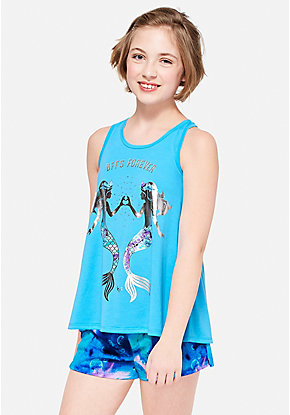 Mermaid BFFs Pajama Set