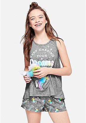 Keep Chasing Your Dreams Pouch Pajama Set