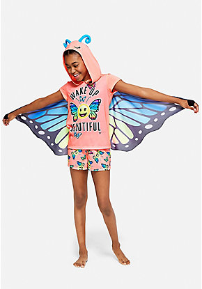 Wake Up Beautiful Butterfly Pajama Set