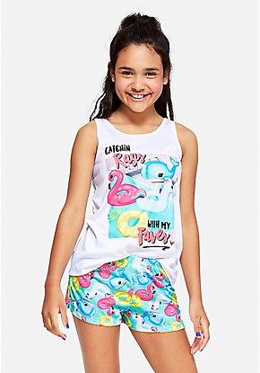 Catchin Rays Pool Floatie Pajama Set