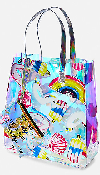 Holo Pool Floatie Tote Set