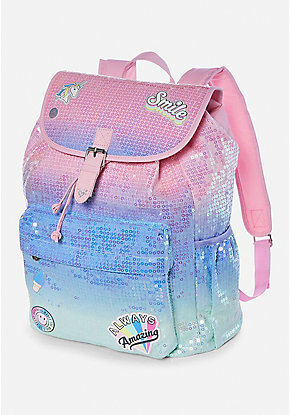 Get Happy Ombre Sequin Rucksack