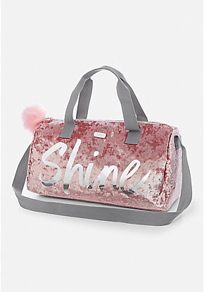 Shine Velvet Duffle Bag