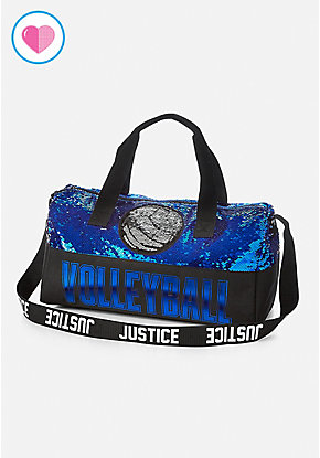 Volleyball Flip Sequin Duffle Bag