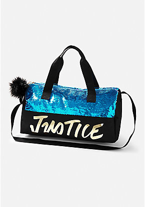 Logo Flip Sequin Duffle Bag