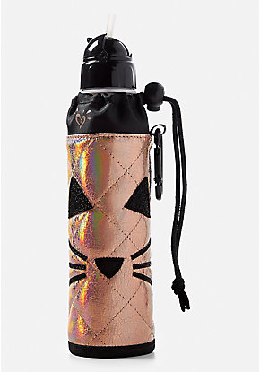 Quilted Cat Sleeved Water Bottle