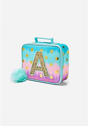0fed77027953 Ombre Foil Dot Initial Lunch Tote