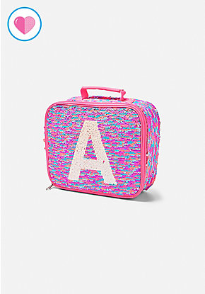 Flip Sequin Initial Lunch Tote