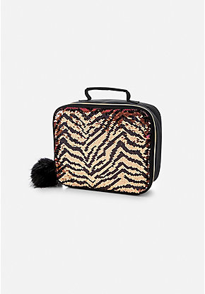 Tiger Flip Sequin Lunch Tote