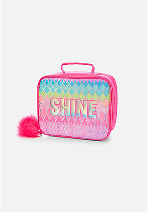 Shine Geometric Lunch Tote