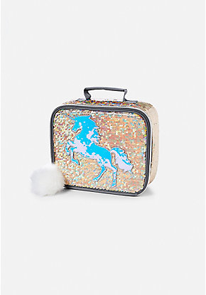 Unicorn Flip Sequin Lunch Tote