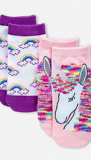 Unicorn Amp Rainbow Socks 2 Pack Justice
