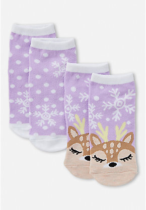 Winter Deer Socks - 2 Pack