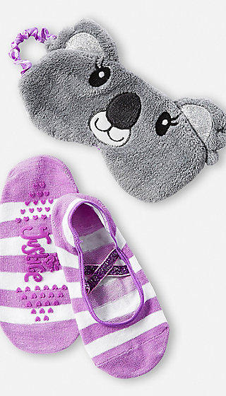 Koala Eye Mask & Slipper Socks Set