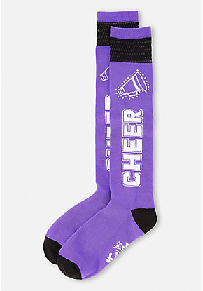 Cheer Mesh Knee High Socks