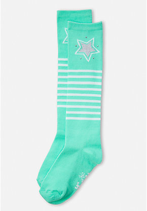 Star Stripe Knee High Socks