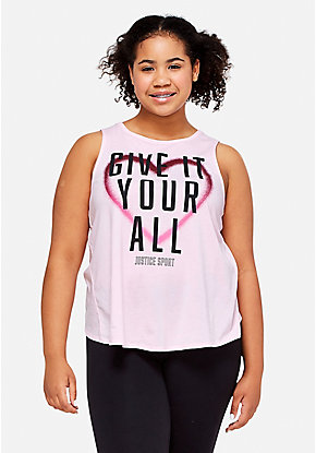 Positive Message Cross Back Tank