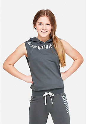 Born With It Cutoff Hoodie
