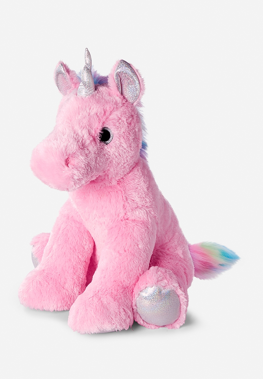 Pink Jumbo Unicorn Plush Justice