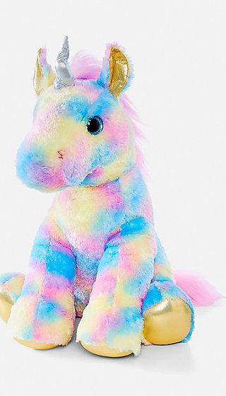 Pastel Rainbow Unicorn Plush Justice