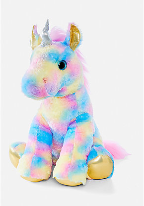 Pastel Rainbow Unicorn Plush