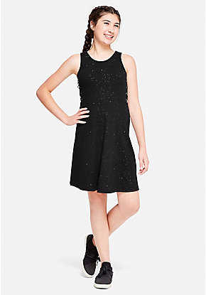 Sparkle Lace Up Dress