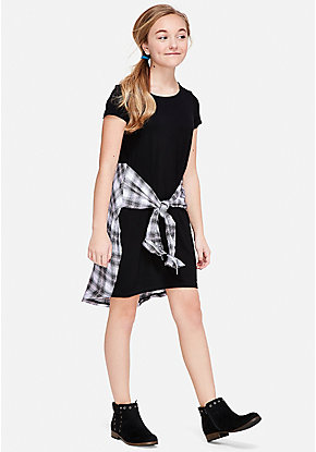 Wrap Around 2fer Dress