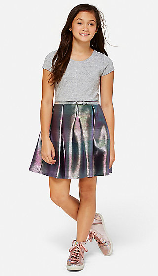 Shimmer Stripe 2fer Dress
