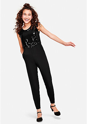 Sequin Flutter Sleeve Jumpsuit