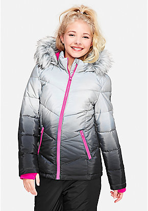 Ombre Puffer Coat