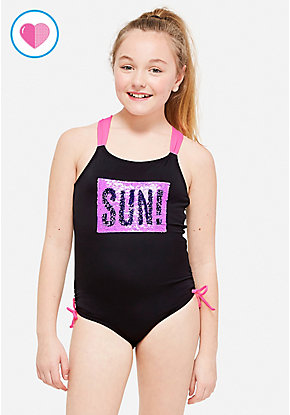Sun Fun Flip Sequin One Piece