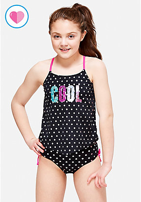 Cool Flip Sequin Tankini