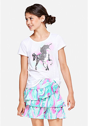 Unicorn Flip Sequin Tee