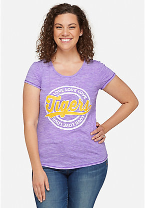 LSU Tigers Glitter Mom Tee