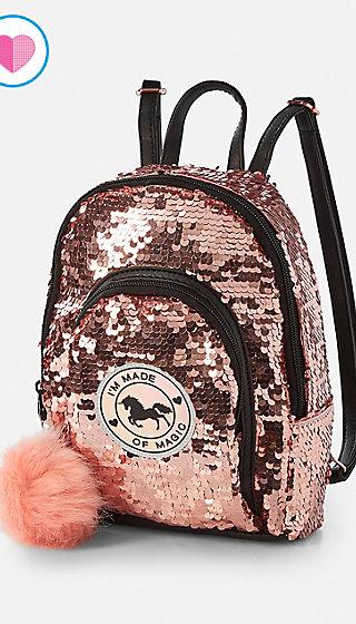 Unicorn Sequin Mini Backpack Justice