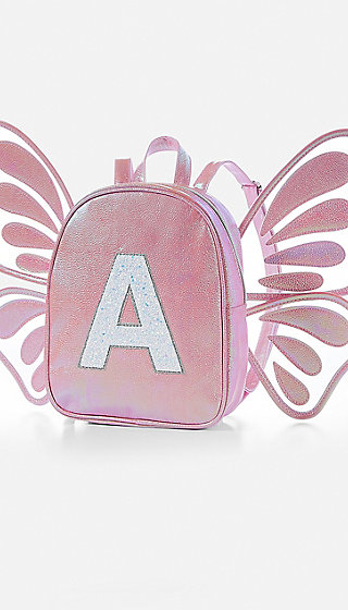 Butterfly Wing Initial Mini Backpack