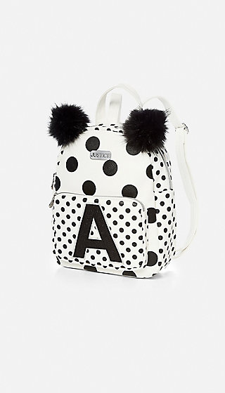 Initial Polka Dot Mini Backpack